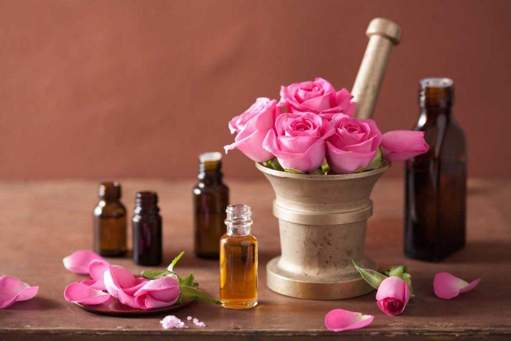 Rose-oil-as-essential-oils-for-headaches